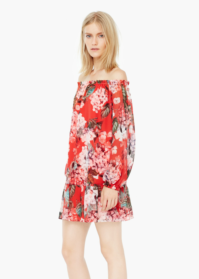 FLORAL-PRINT FLOWY DRESS 39,99e