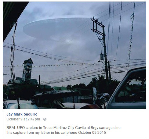 Fake UFO in Trese Martires, Cavite Oct 12, 2015