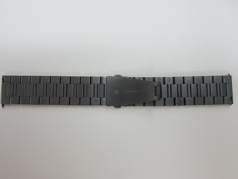 Pebble Time Steel - Gunmetal Black Steel Band - Back