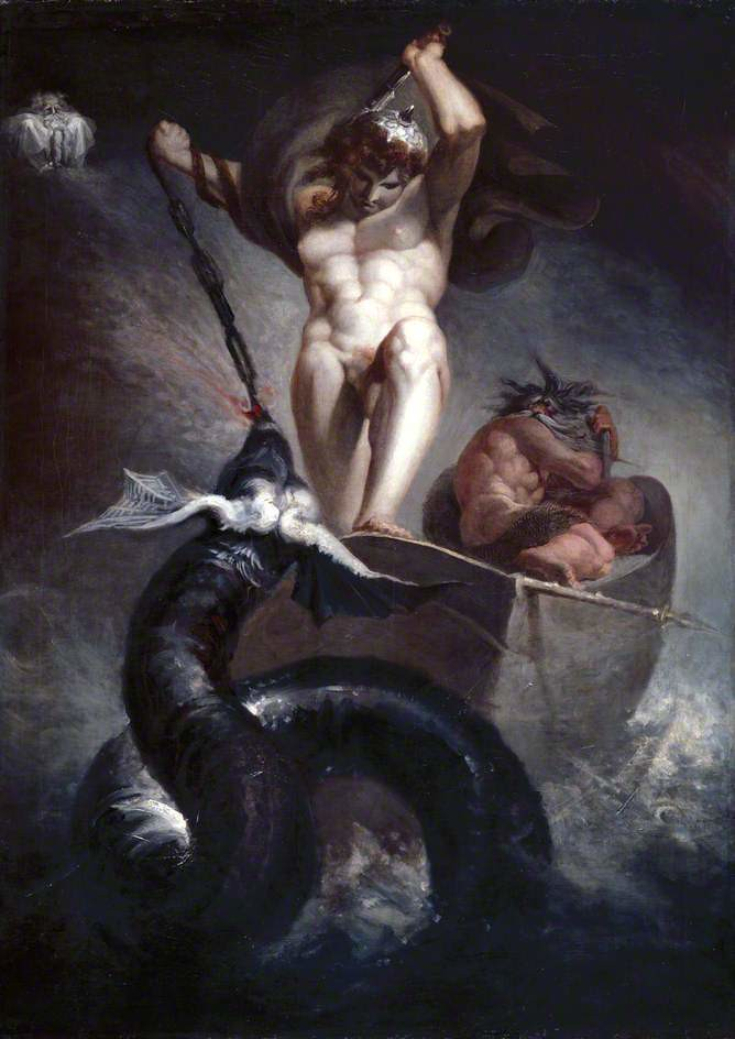 Thor Battering the Midgard Serpent (1790) Johann Heinrich Füssli