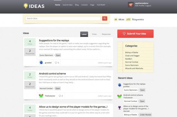 AppThemes Ideas v1.3.1 - A Customer Feedback Theme For WordPress