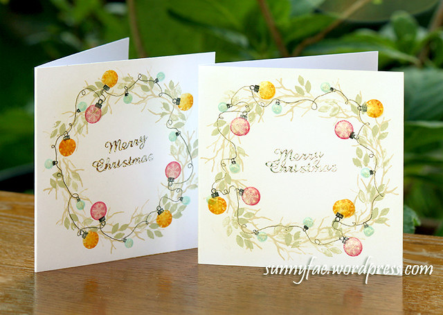 Small Stamped Christmas Cards