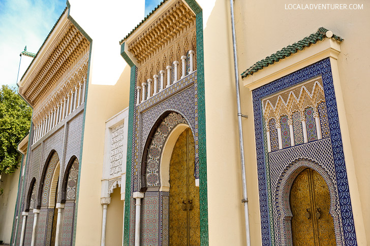 The Famous Doors at the Golden Gates of Palais Royale Fez Morocco.