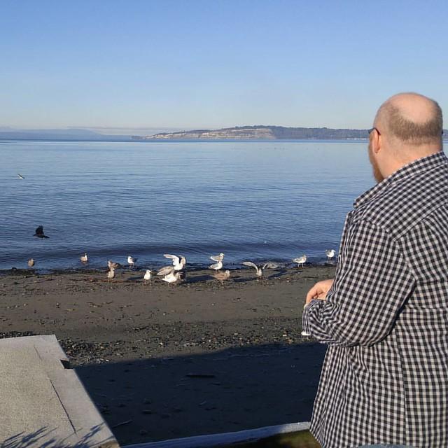 Seagulls love him.