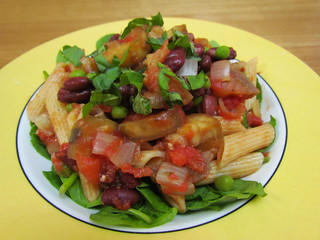 Penne with Spicy Eggplant