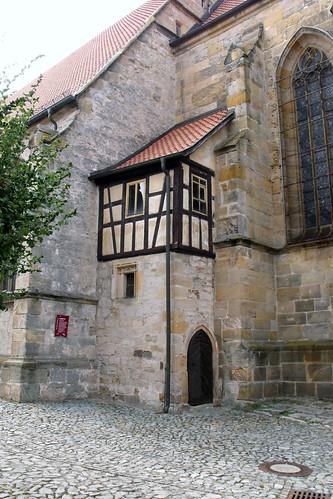 Heldburg, St. Marien, Fachwerkanbau