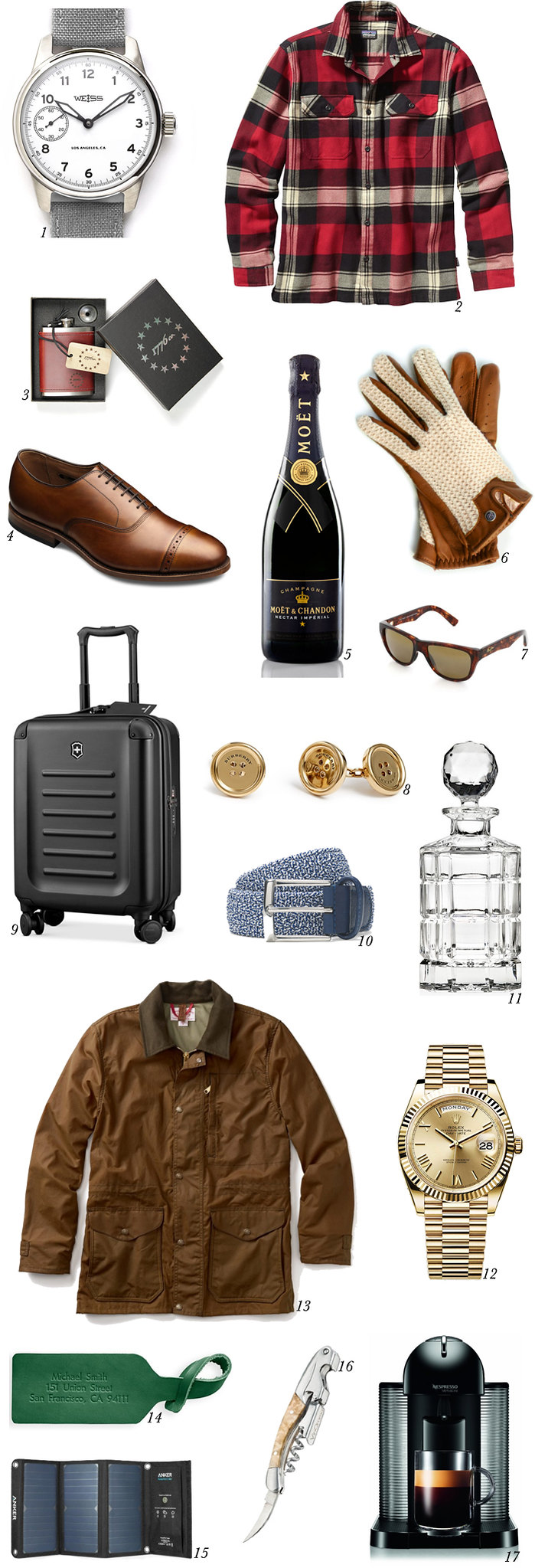 2015 holiday wish list men