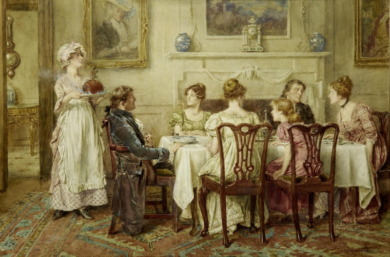 Christmas Day by George Goodwin Kilburne, (English, 1839 - 1924)