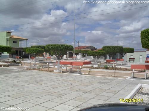 Dois Riachos - Praça central da cidade
