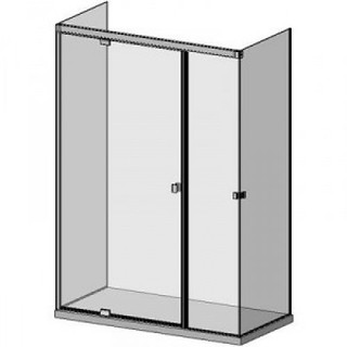 Három üveg oldalú, hidraulikus csukódású zuhanykabin