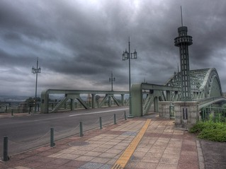 Asahibashi Bridge, Asahikawa on AUG 21, 2015 (6)