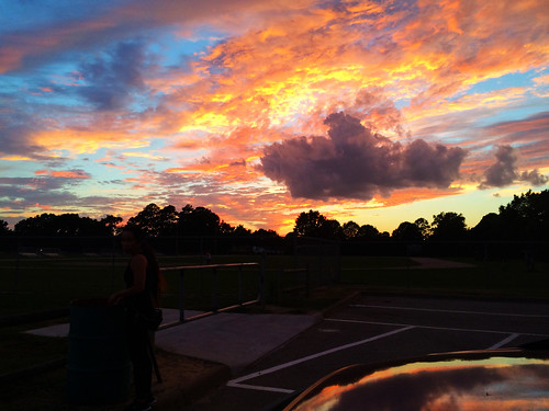 Track Field Sunset (September 1 2014)