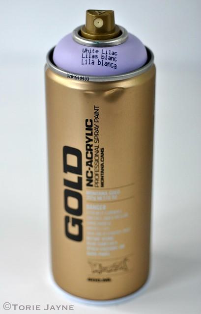 White Lilac Gold Montana Spray Paint 1
