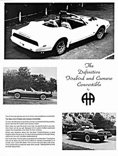 1980 Firebird and Camaro Convertibles by A.H.A. (Canada)