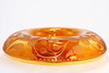 Large Depression Era Art Deco Amber Flashed Etched Rolled Edge Console Bowl by babyfella2007