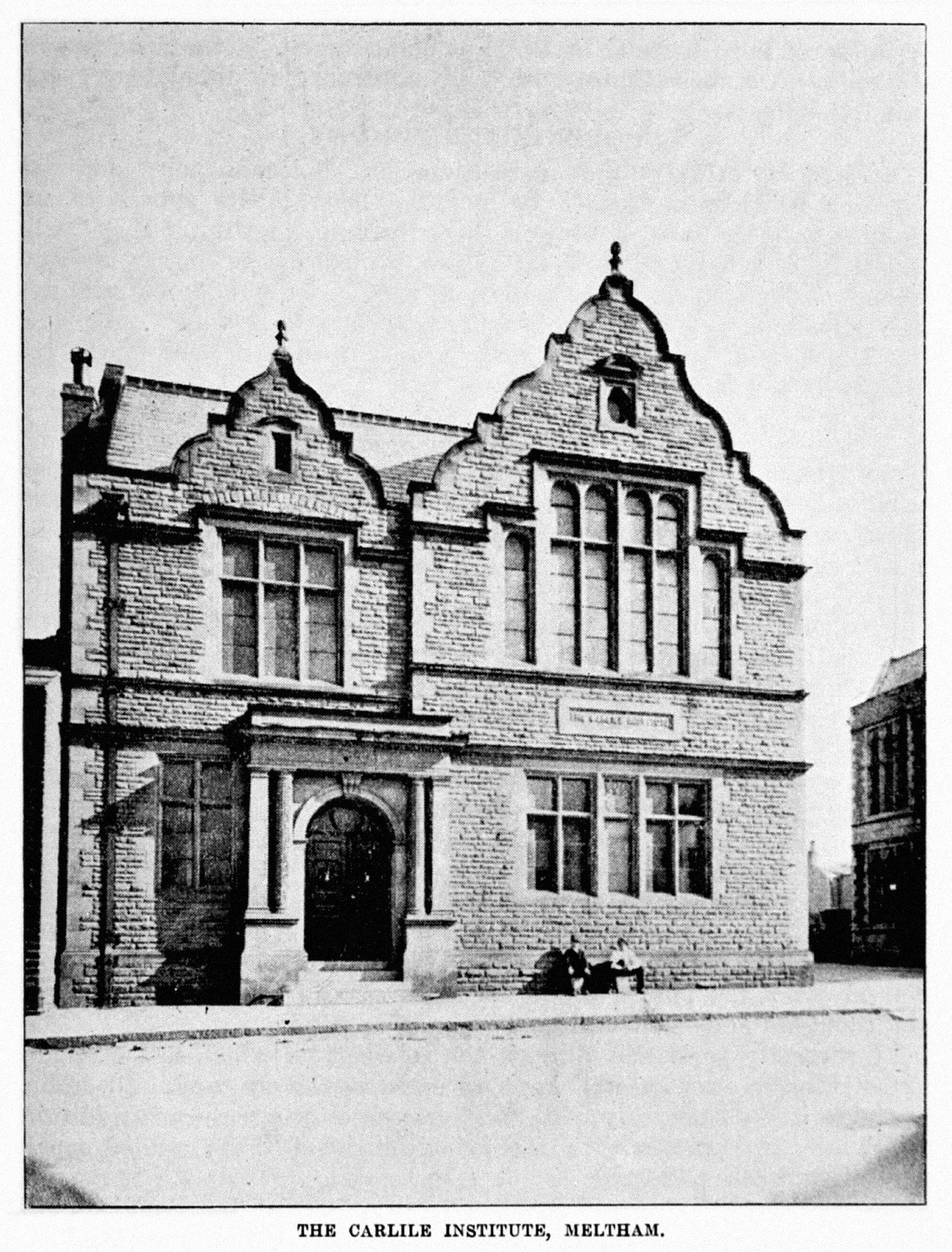 Photograph of the Carlile Institute from the late 1890s.