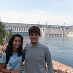 En la presa de Krasnoyarsk