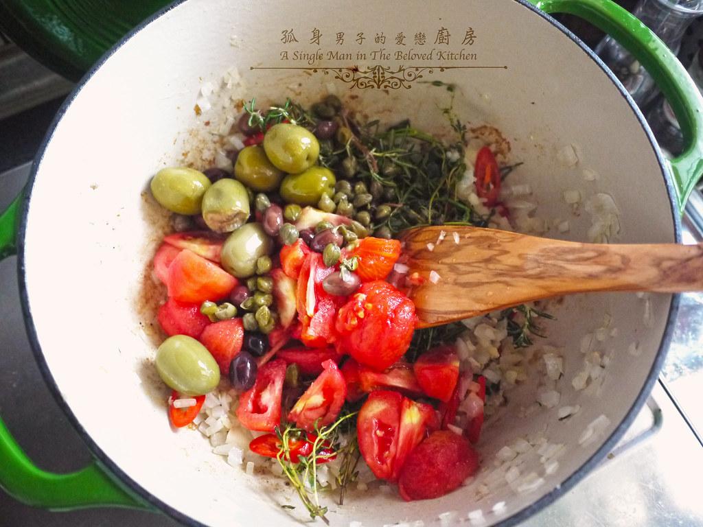 孤身廚房-蕃茄橄欖燴雞肉佐番紅花香米18