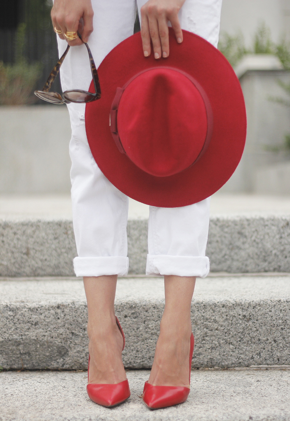 Red Hat Red Shoes White Jeans17