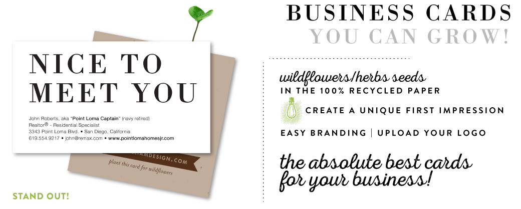 Plantable business cards seeded paper business cards green green business print business cards colourmoves