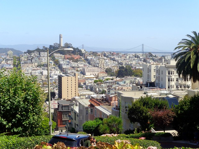 View from Lombard Street, San Francisco