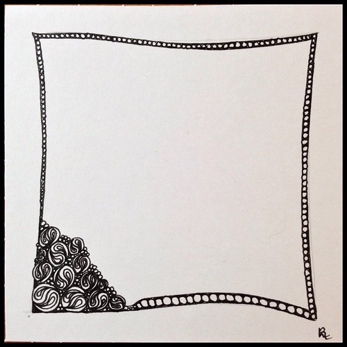 Zentangle 110 for The Diva's Challenge #243
