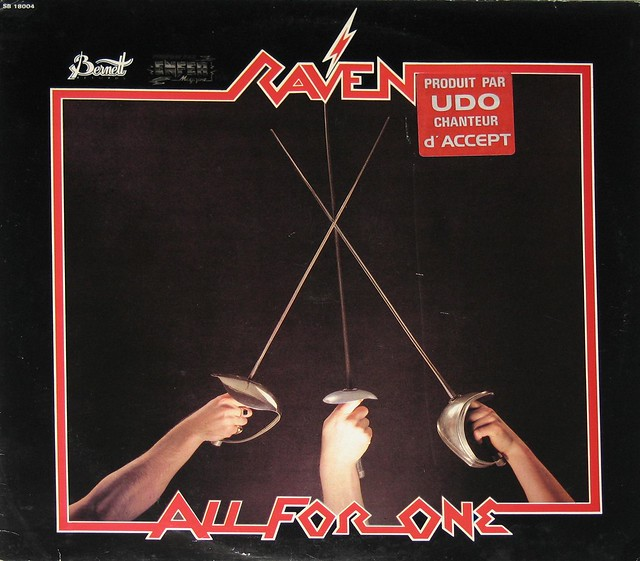 "RAVEN ALL FOR ONE NWOBHM 12"" Vinyl LP"