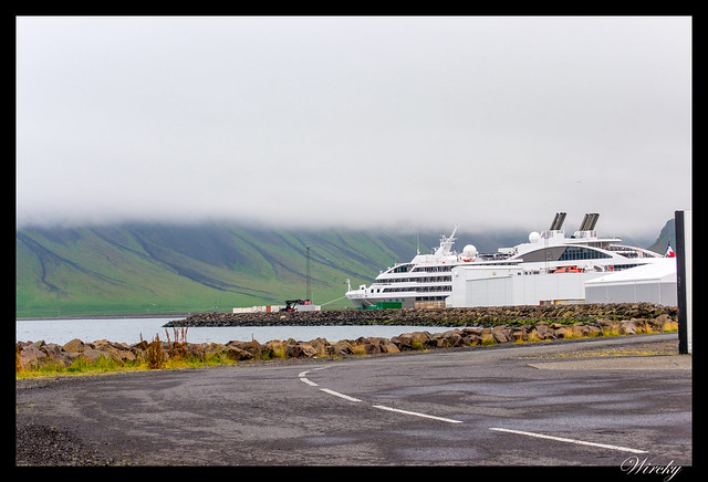 Crucero en puerto de Grundarfjördur