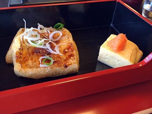 Tofu coated with miso