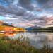 Sunset at Malign Lake