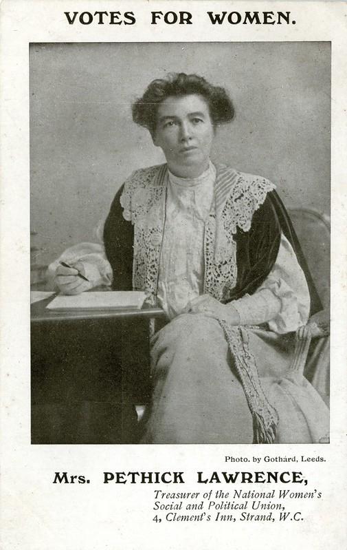 Emmeline Pethick-Lawrence, 1907-1912. Credit: LSE Library