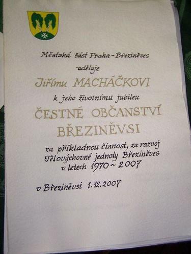 2007 - Udílení čestných občanství