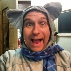 Time for Mr. Mouse to delight and entertain children in 'T'was the Night Before Christmas'!