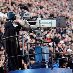 #flashbackFriday to that time #DarthVader worked the camera at a @utahfootball game. #GoUtes! #MayTheForceBeWithYou 🎥🏈 #UofU #universityofutah #UtahFootball #StarWars