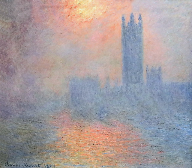 IMG_6235 Claude Monet. 1840-1926. Paris. Londres, le Parlement. Trouée de soleil dans le brouillard. London, the Parliament. Hole of sun in the fog. 1904  Paris Orsay.