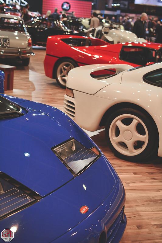 French Flag - Bugatti EB110 GT - Porsche 959 - Ferrari F50