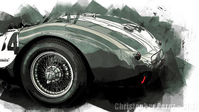 Jaguar C-type ~ l'art et la voiture