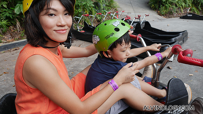 Brought my wife and son to ride on the luge