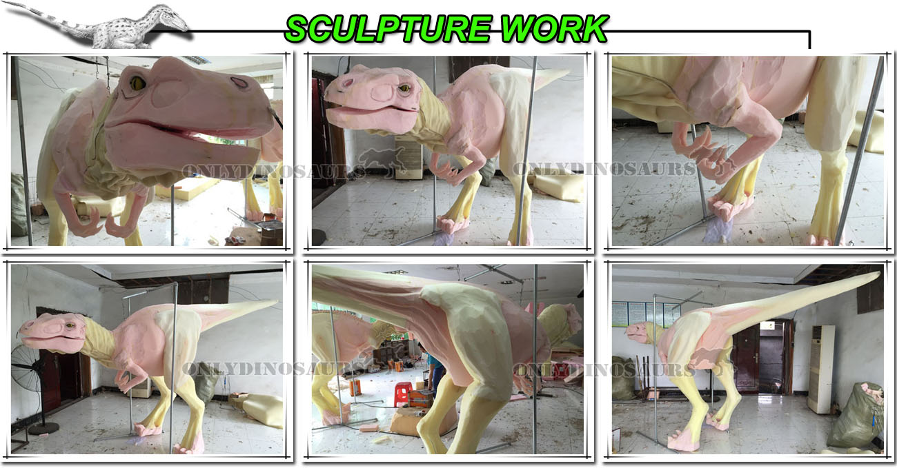 Sculpture Work for VelociRaptor Costume