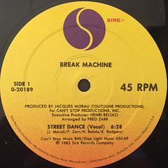 BREAK MACHINE:STREET DANCE(LABEL SIDE-A)