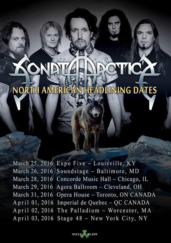 Sonata Arctica at Baltimore Soundstage