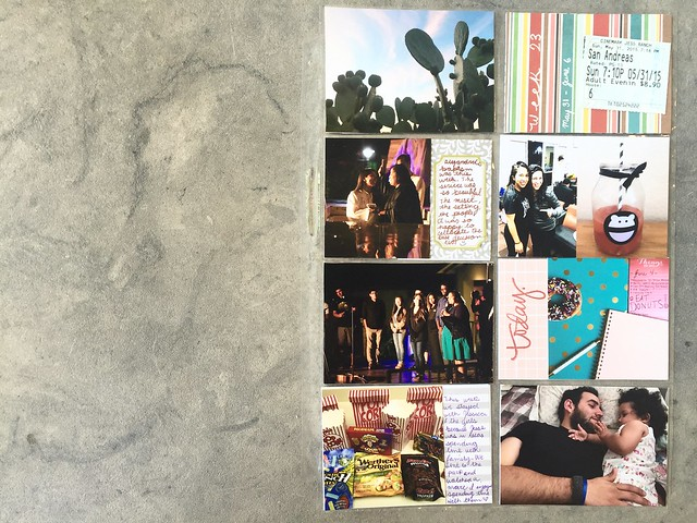 jasmine's pocket scrapbook // project life: june 2015