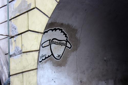 sheep graffiti