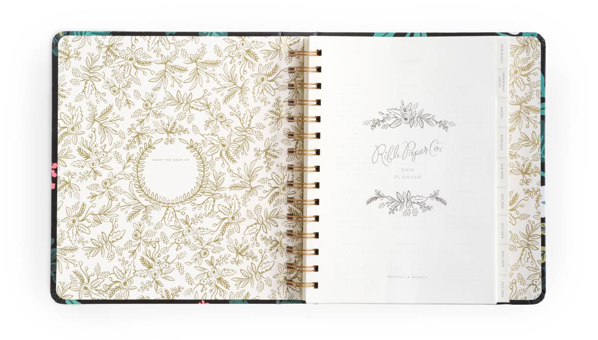 rifle paper co 2016 planner