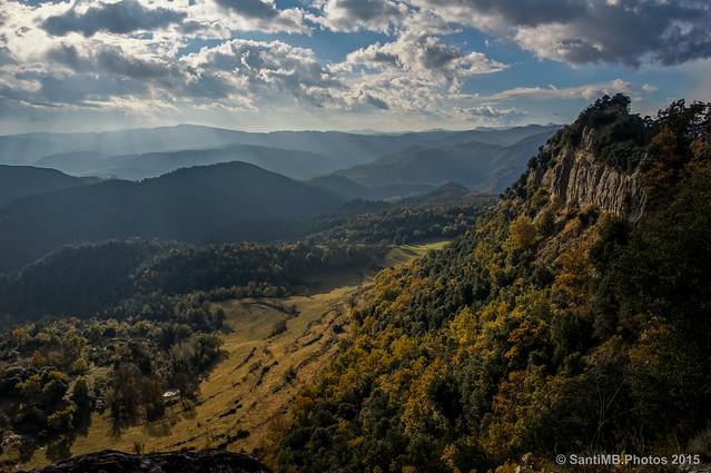 En lo alto de la Serra dels Bufadors