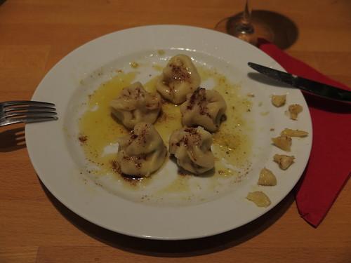 Vegetarisch gefüllte Chinkali (zweiter Teller)