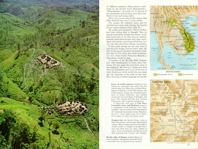 National Geographic April 1968 (3) - VIET NAM'S  MONTAGNARDS