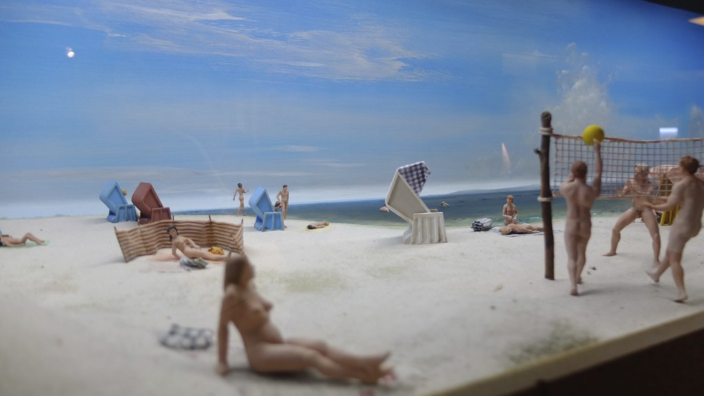 Nude sunbathing was very popular in East Germany.