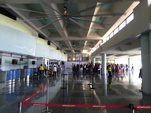 Departe hall & large fans @ Purto Plata Airport