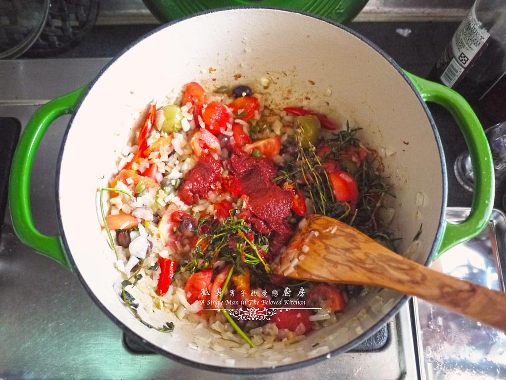 孤身廚房-蕃茄橄欖燴雞肉佐番紅花香米19